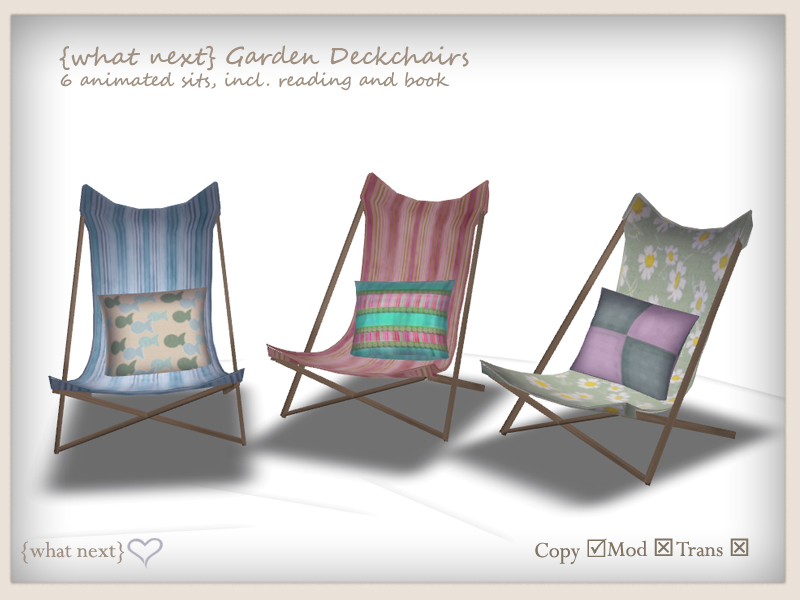 {what next} Summer Bunting & Deckchairs