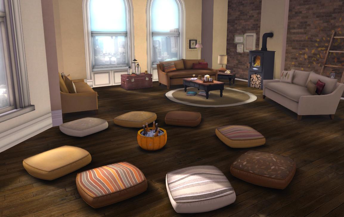 Floor Cushions Autumn For Lazy Sunday