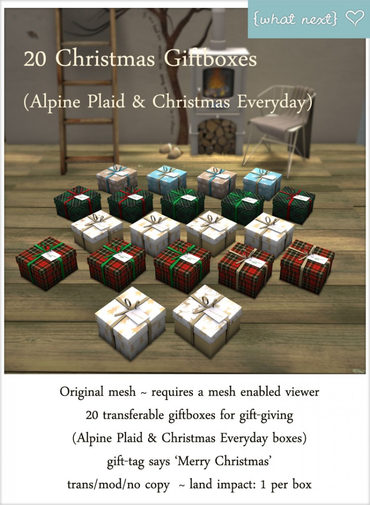 {what next} 20 Giftboxes - Alpine Plaid and Christmas Everyday Vendor