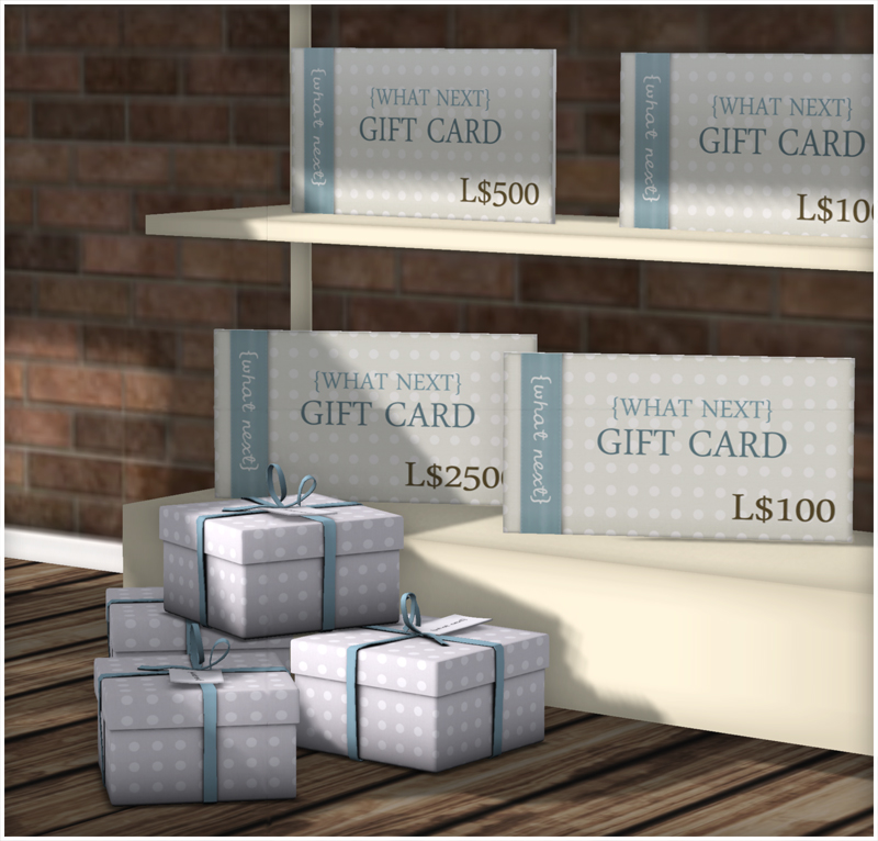 {what next} buyable transferable gift cards_sm