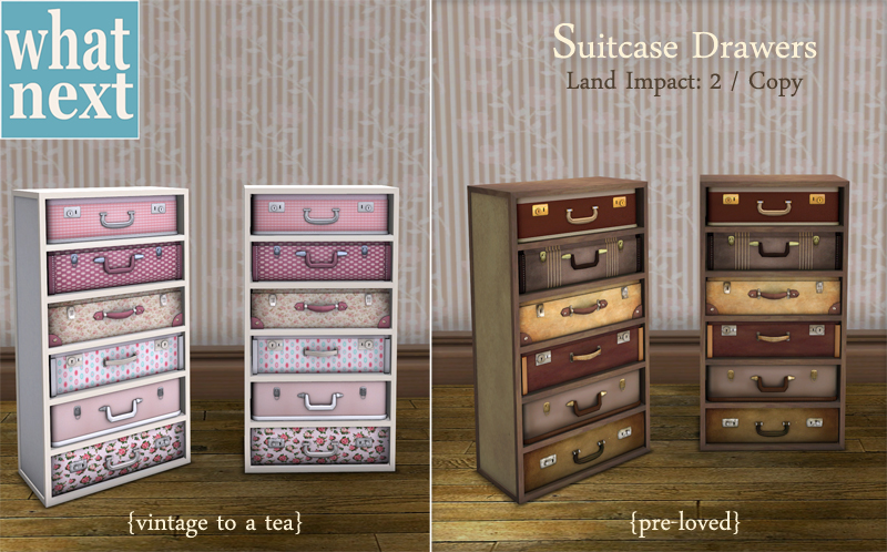 Suitcase Drawers for Lazy Sunday - What Next