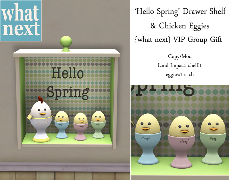 {what next} Hello Spring Drawer Shelf & Eggies - Group Gift_small