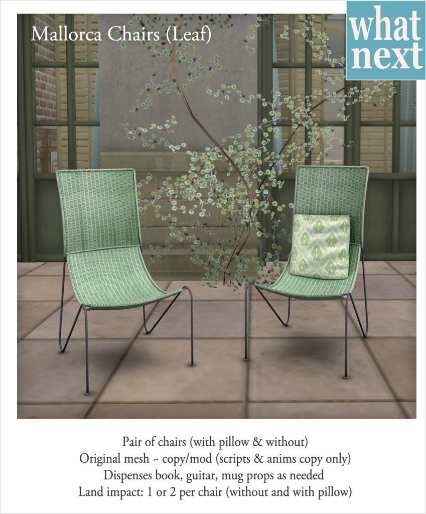 {what next} Mallorca Chairs - Leaf