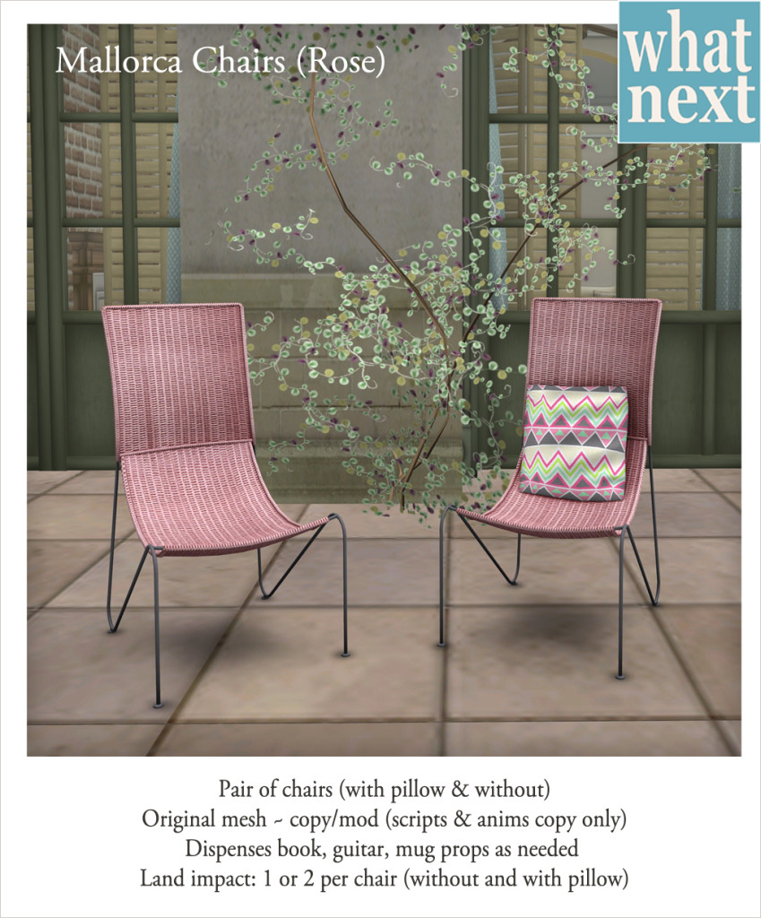{what next} Mallorca Chairs - Rose