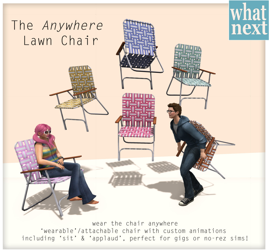 {what next} The Anywhere Lawn Chair Promo