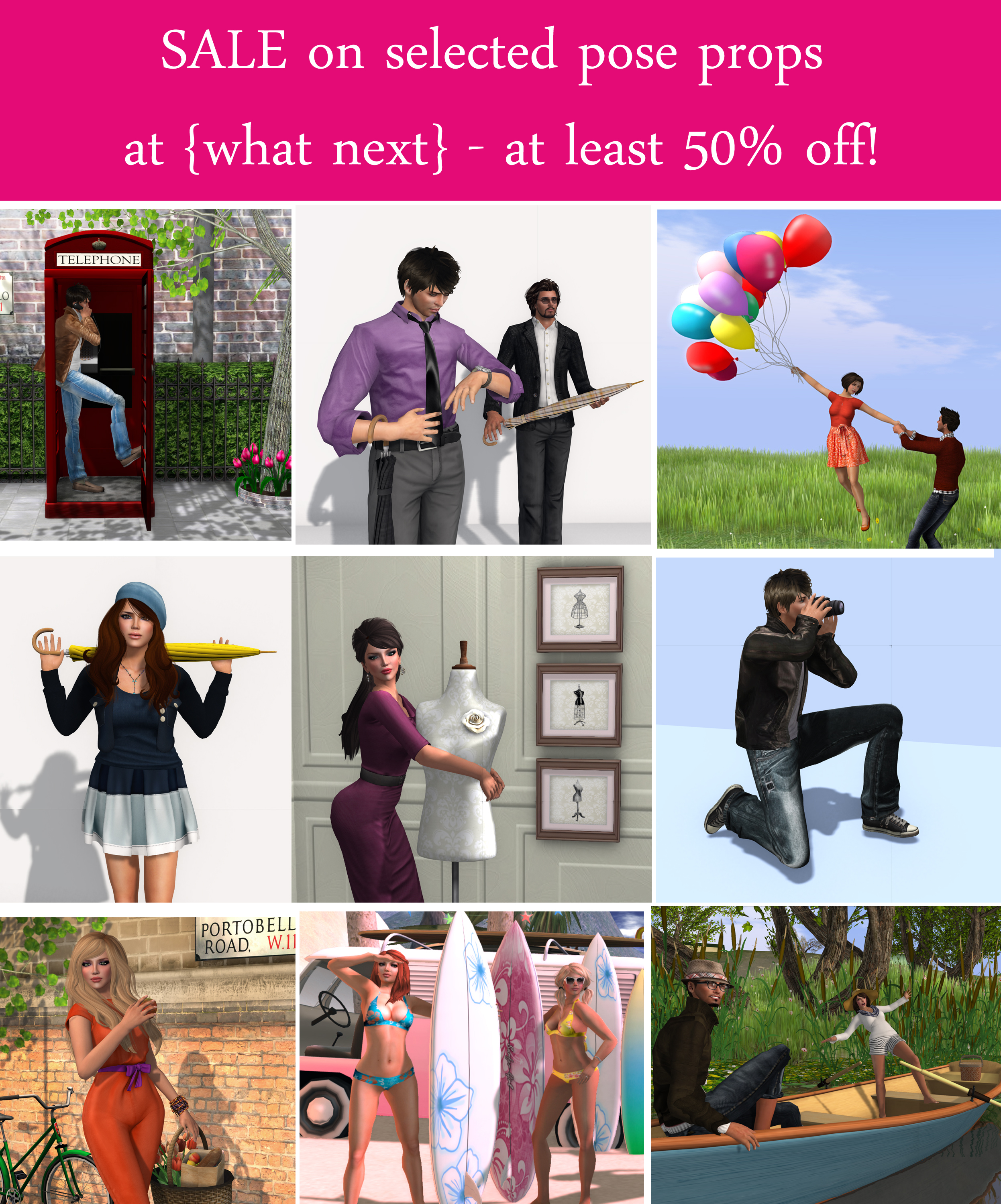 50% Off Pose Prop Sale at {what next}
