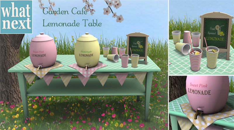 Garden Cafe Lemonade Table Set for Lazy Sunday_small