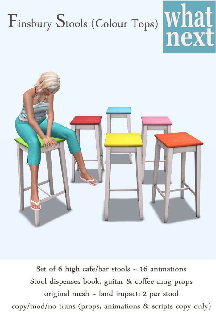 {what next} Finsbury Stools (Pastels)