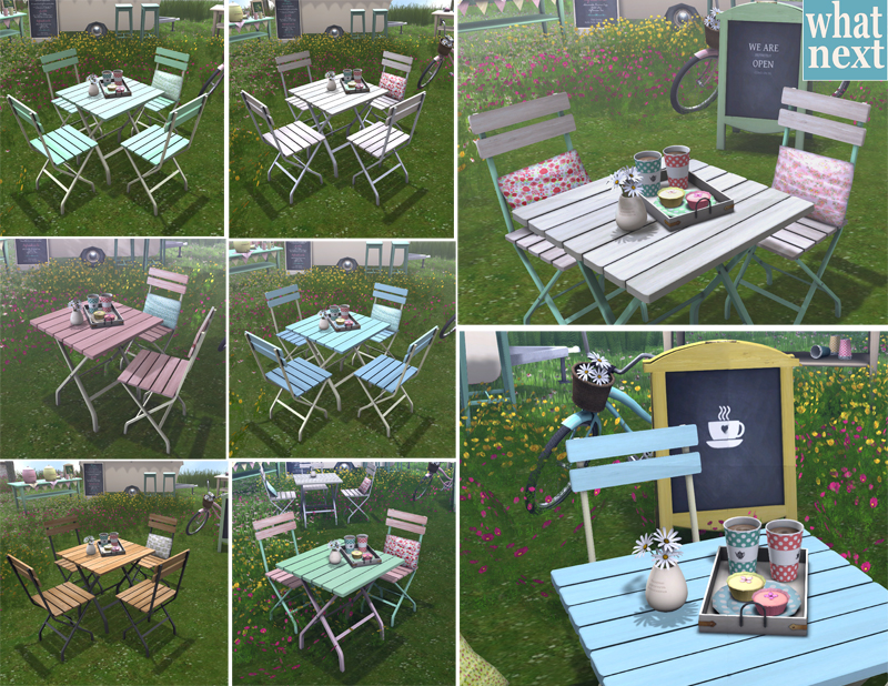 {what next} Garden Cafe Table & Chairs - RFL Expo small