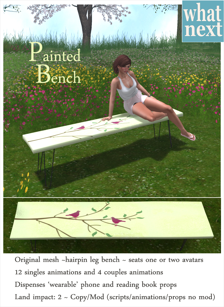 {what next} Painted Bench