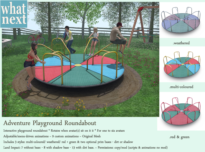 {what next} Adventure Playground Roundabout Vendor Small