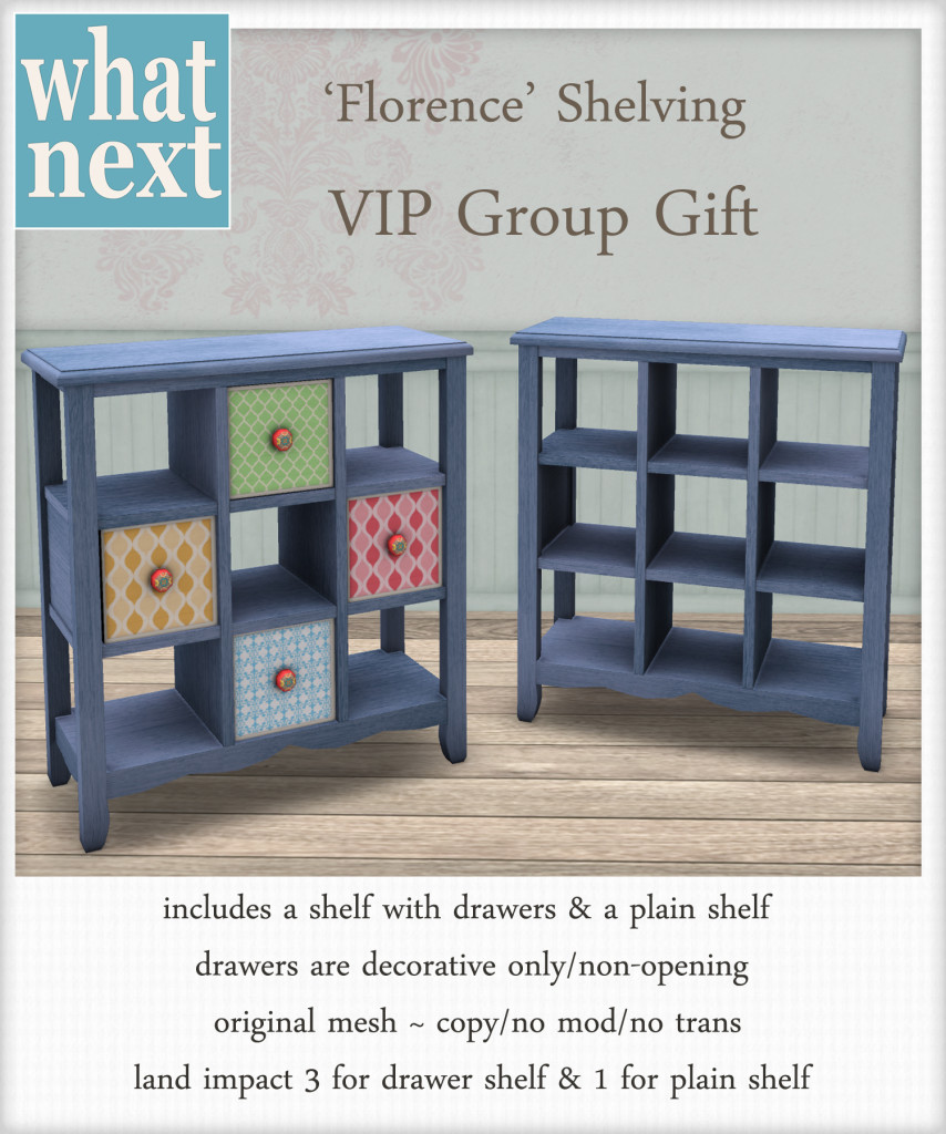 {what next} Florence Shelves Blue - Group Gift