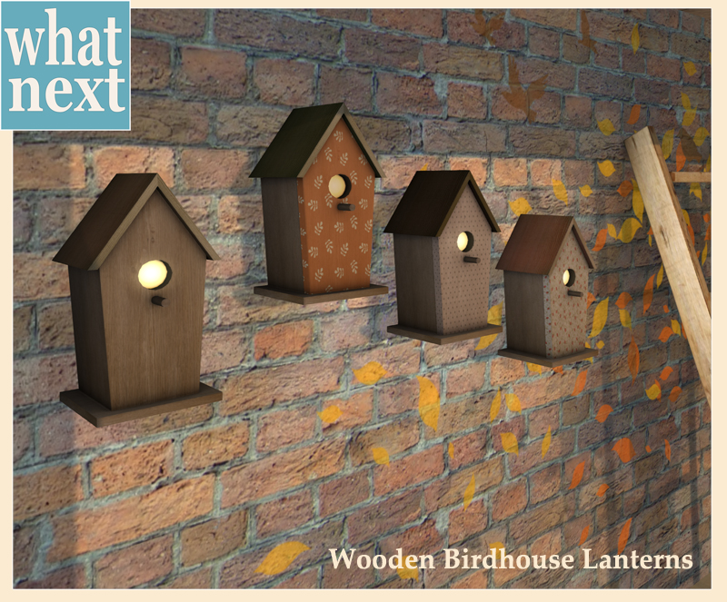 {what next} Wooden Birdhouse Lanterns for Blog and MP