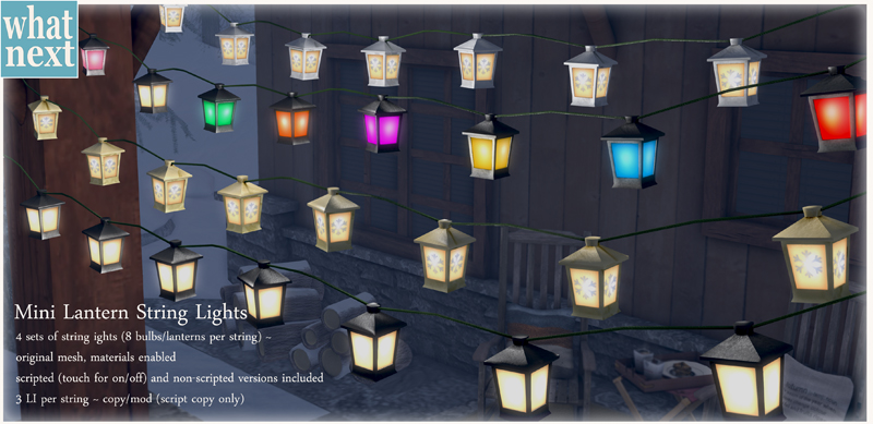 New Mini Lantern String Lights at {what next}