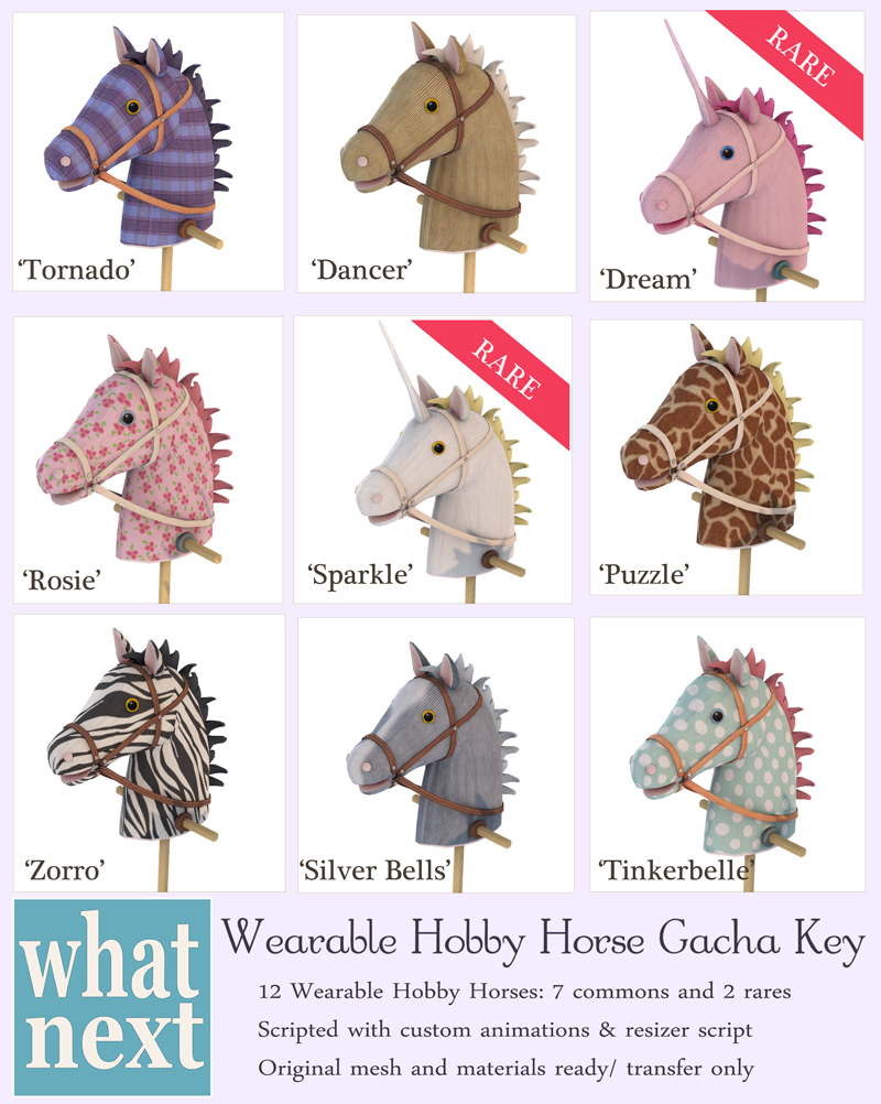 {what next} Wearable Hobby Horse Gacha Key small