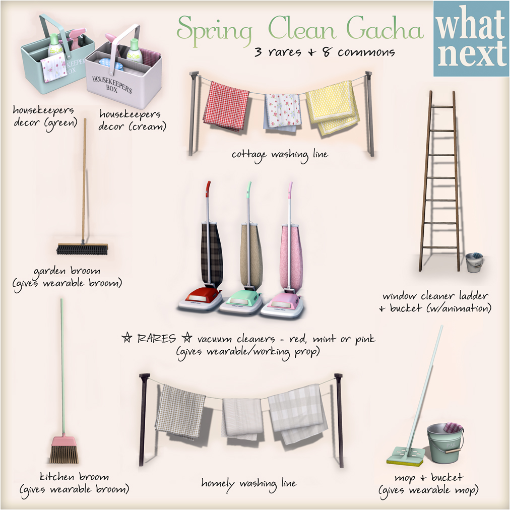 {what next} Spring Clean Gacha Key for shopping guide 1024x1024