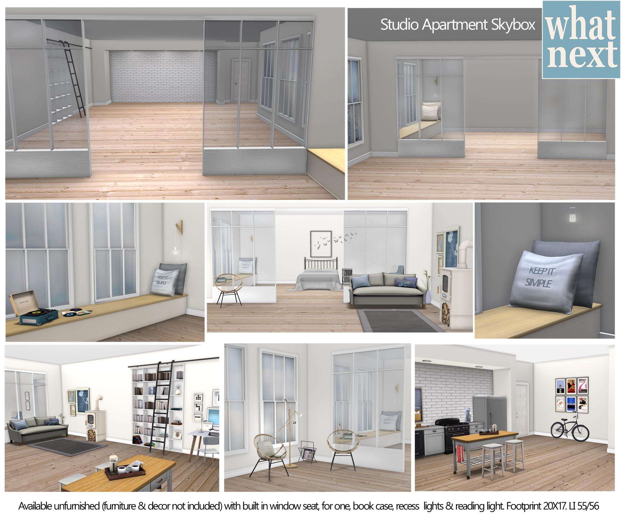 Virtual Home Design Studio: Studio Apartment Skybox