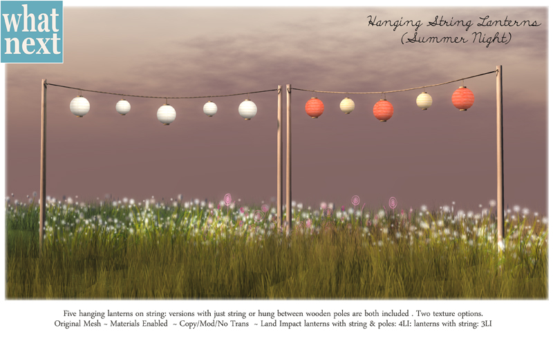 {what next} Hanging Lanterns Summer Night 800