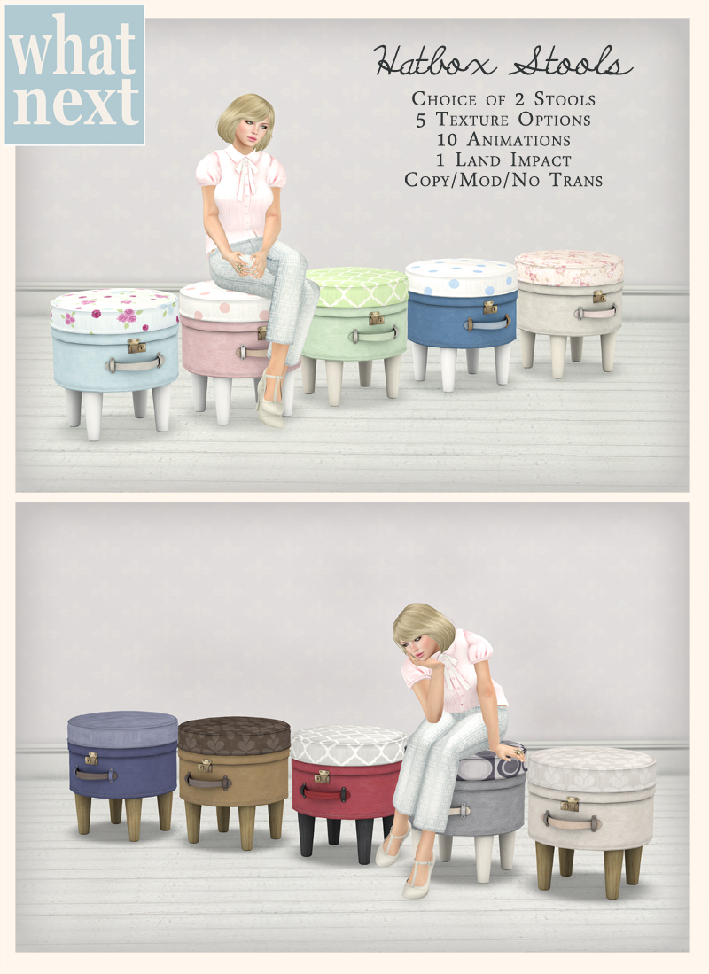 Hatbox Stools for Fifty Linden Friday