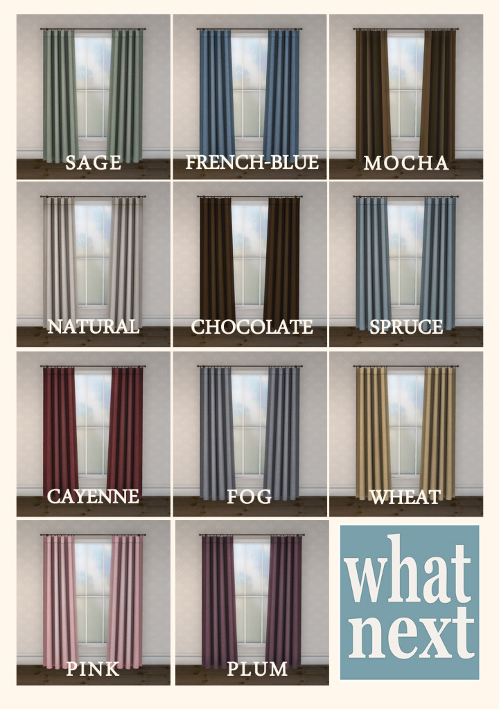 Maison Drapes Colour Chart