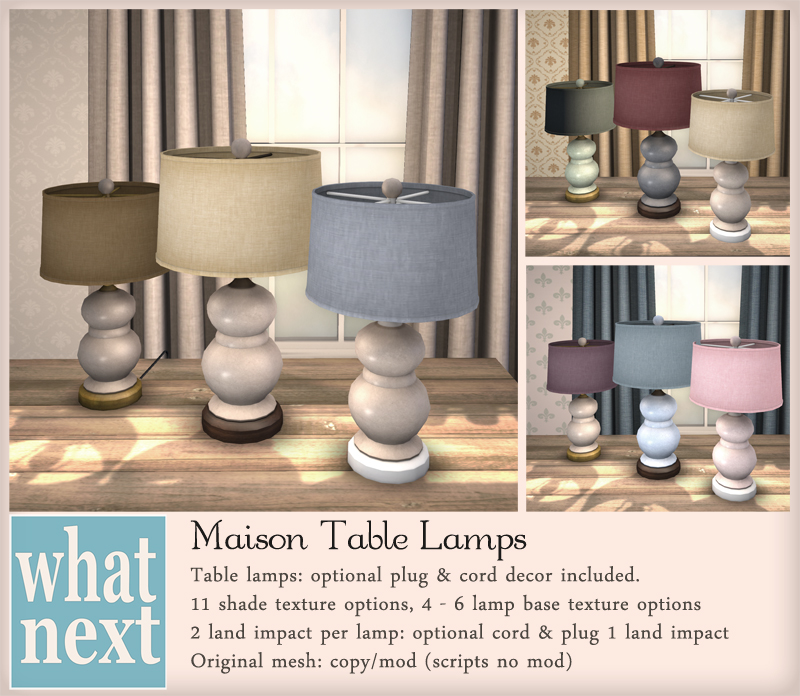{what next} Maison Table Lamps 800