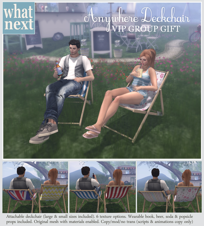 Anywhere Deckchairs : {what next} VIP Group Gift