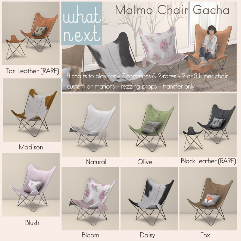 {what next} Malmo Chair Gacha Key_800