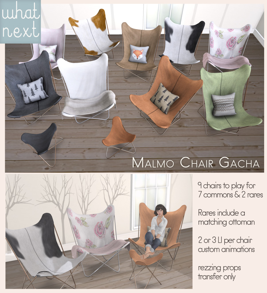 {what next} Malmo Chair Gacha Poster V2