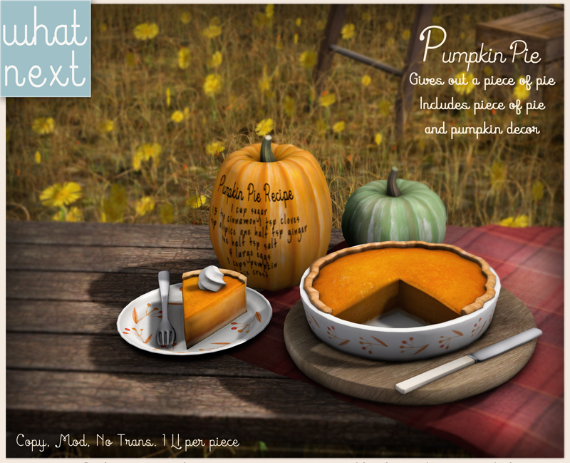 {what next} Pumpkin Pie Decor For FLF 800