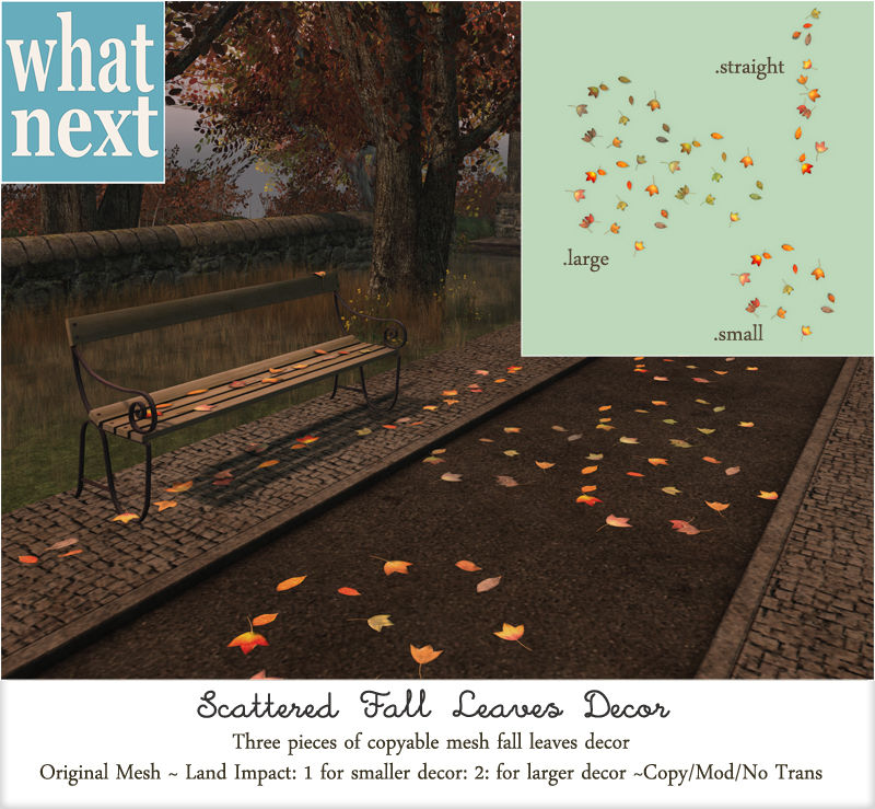 {what next} Scattered Fall Leaves Decor