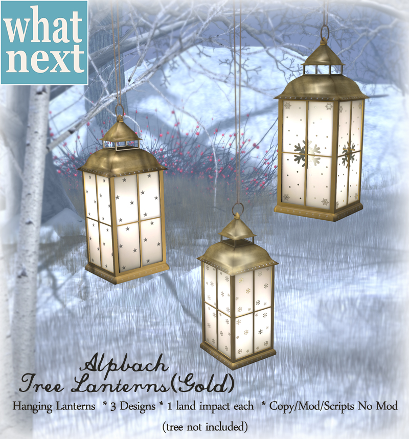{what next} Alpbach Tree Lanterns - Gold