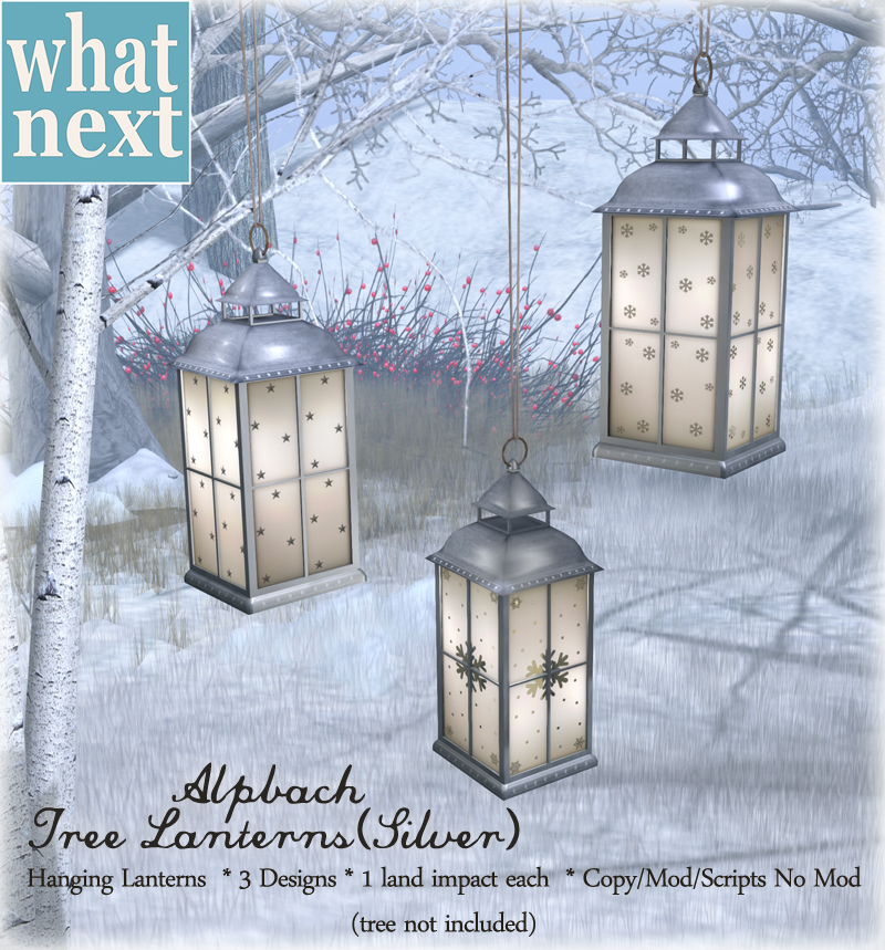 {what next} Alpbach Tree Lanterns - Silver