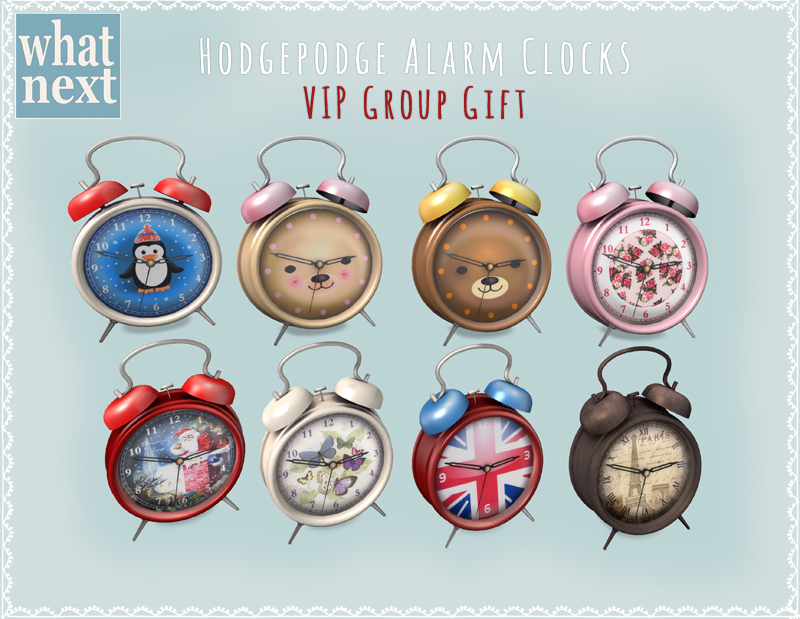 {what next} Hodgepodge Alarm Clocks VIP Group Gift 800