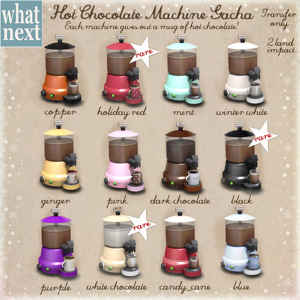 {what next} Hot Chocolate Machine Gacha Key 1024x1024