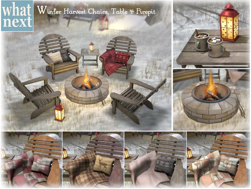 {what next} Winter Harvest Chairs and Firepit Promo 800