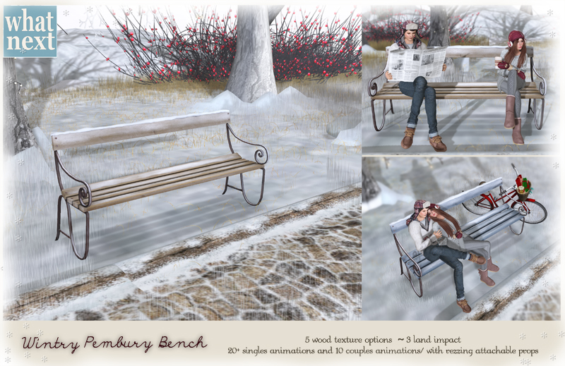 {what next} Wintry Pembury Bench 800