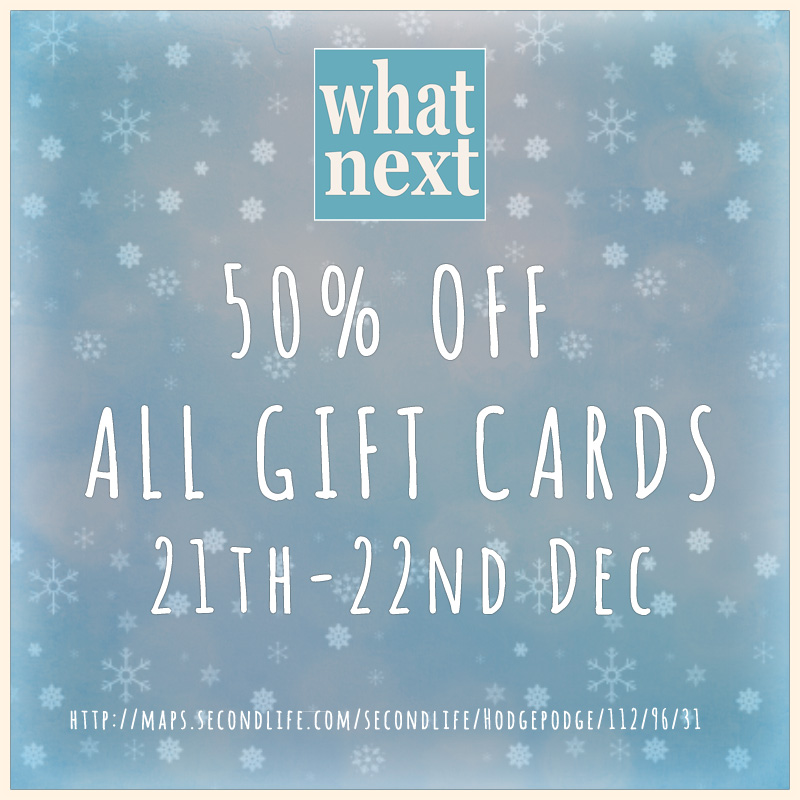 {what next} gift card sale 2014 800