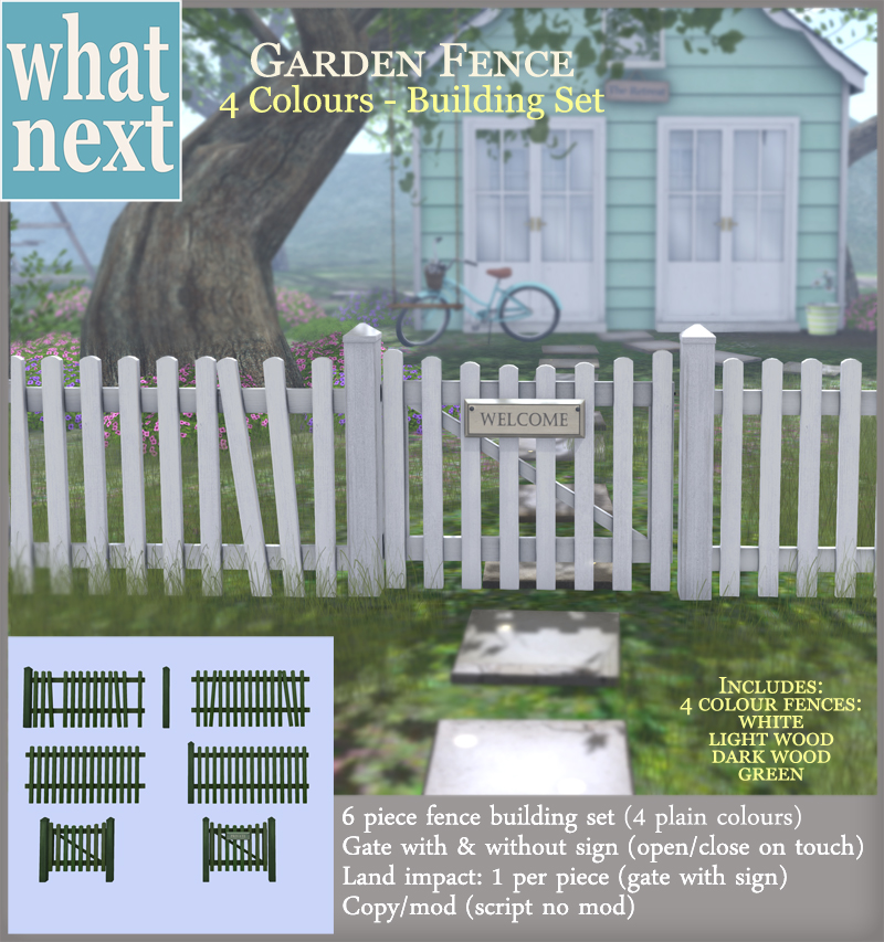 {what next} Garden Fence Building Set 800