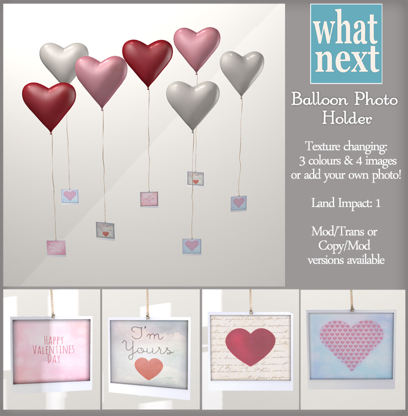 {what next} Heart Balloon Photo Holder 800