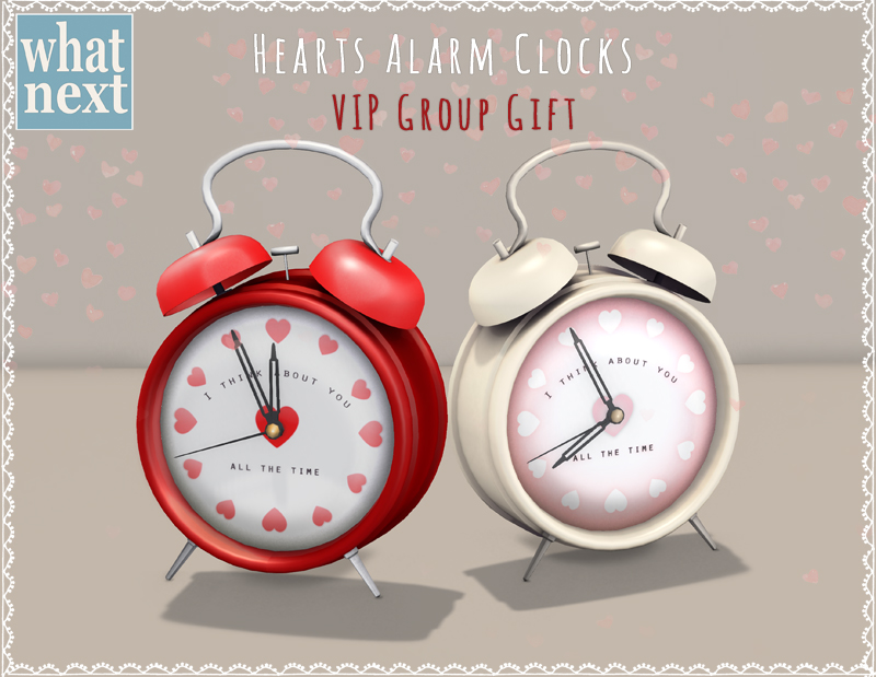 {what next} Hearts Alarm Clocks - VIP Group Gift 800