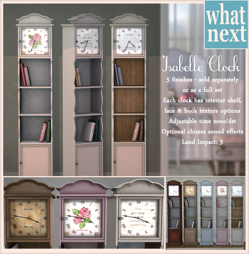 {what next} Isabelle_Clocks_Promo_Small
