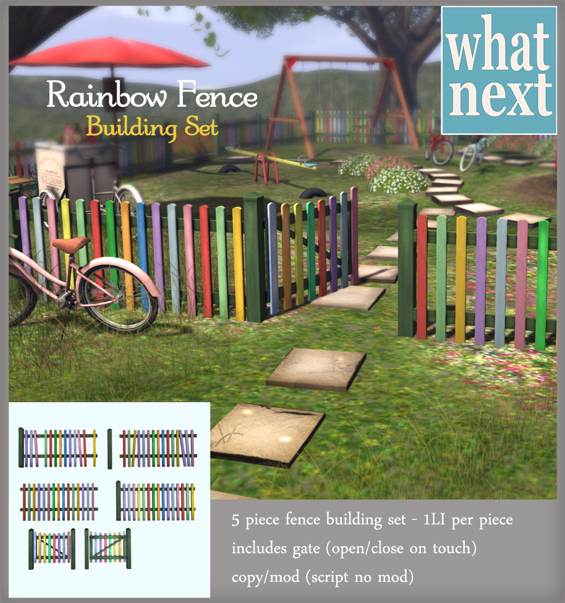 {what next} Rainbow Fence Building Set 800