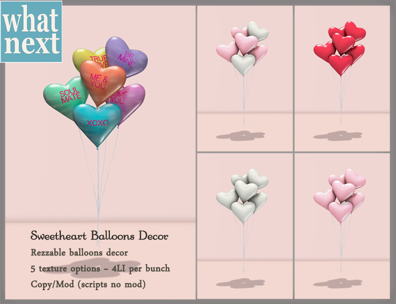 {what next} Sweetheart Balloons Decor 800