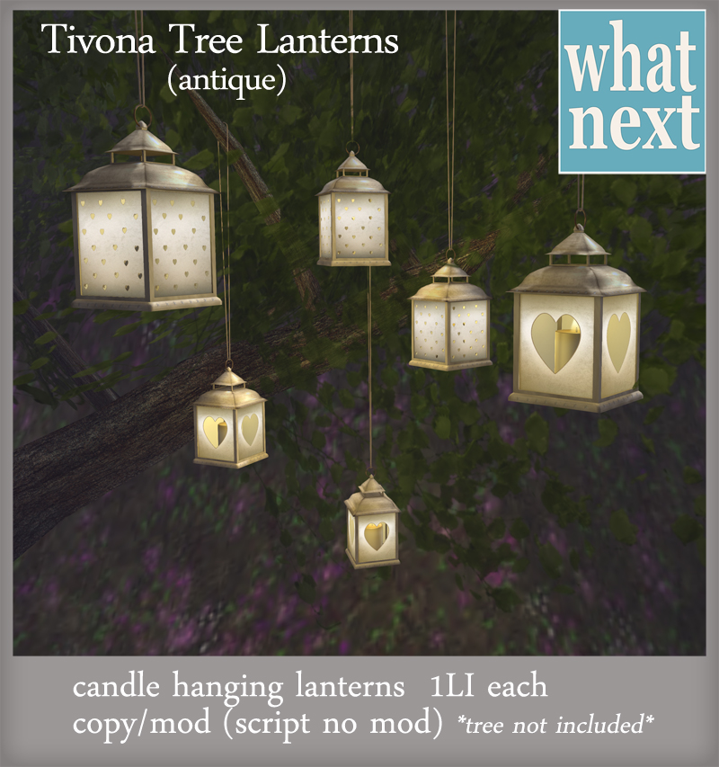 {what next} Tivona Tree Lanterns (antique)