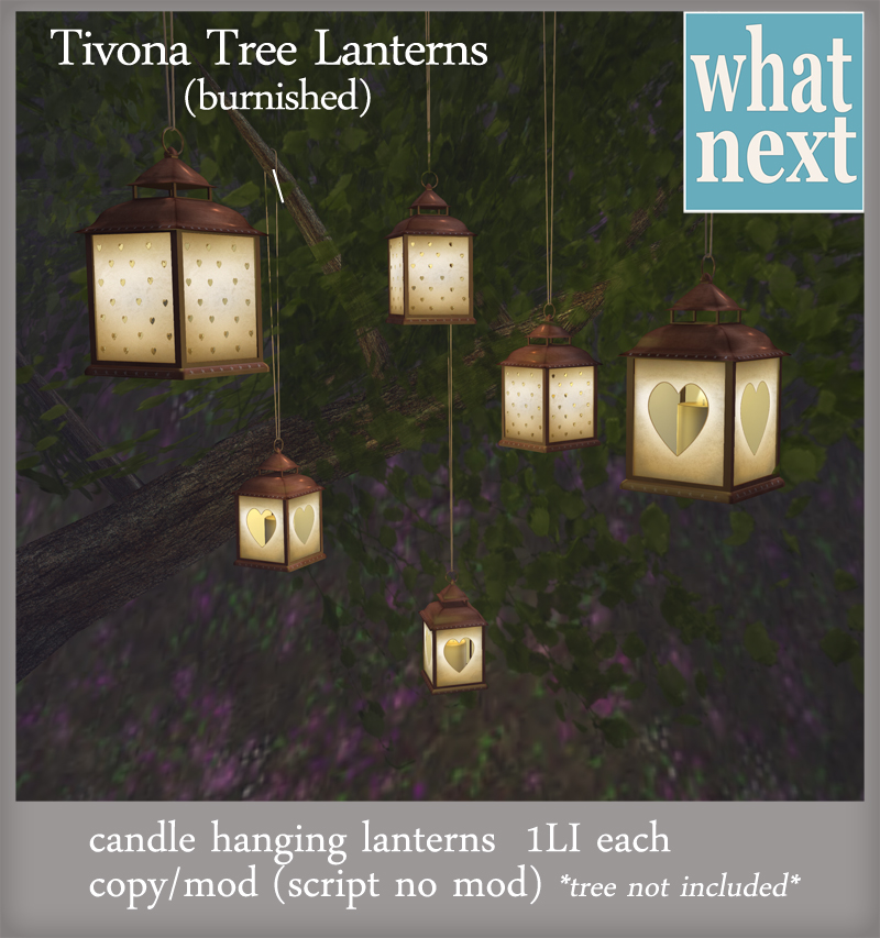 {what next} Tivona Tree Lanterns (burnished)