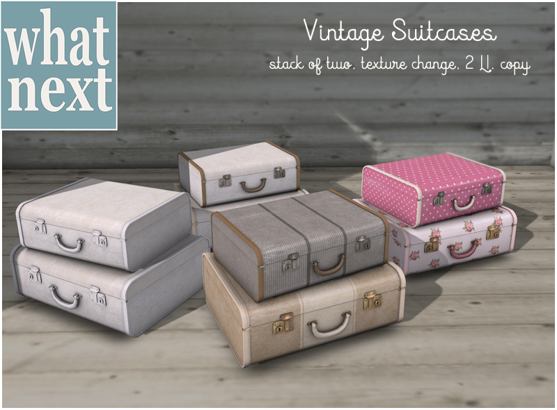 {what next} Vintage Suitcases - Texture-Changing