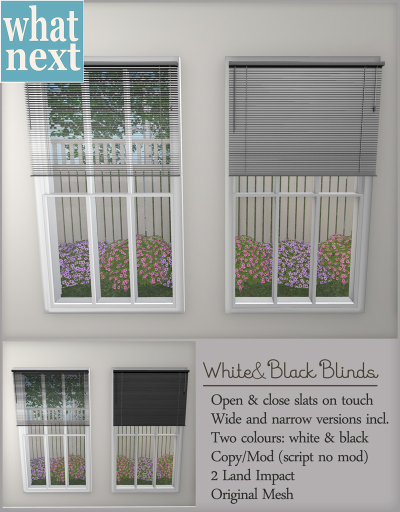 {what next} White & Black Blinds