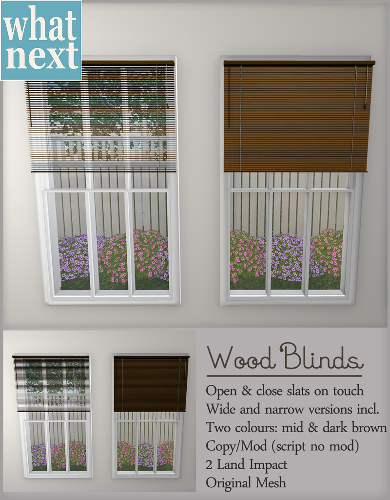 {what next} Wood Blinds