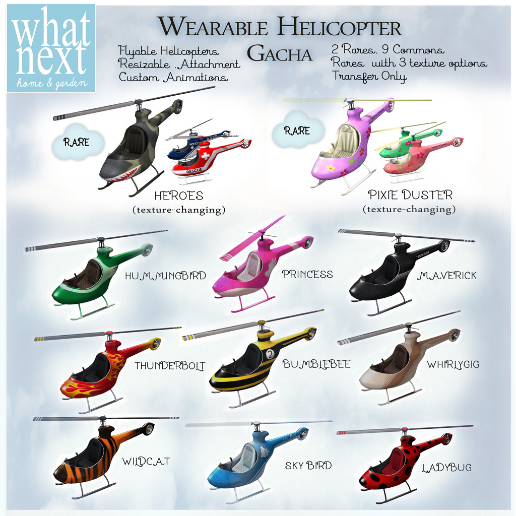 Second Life - Wearable Helicopter Gacha