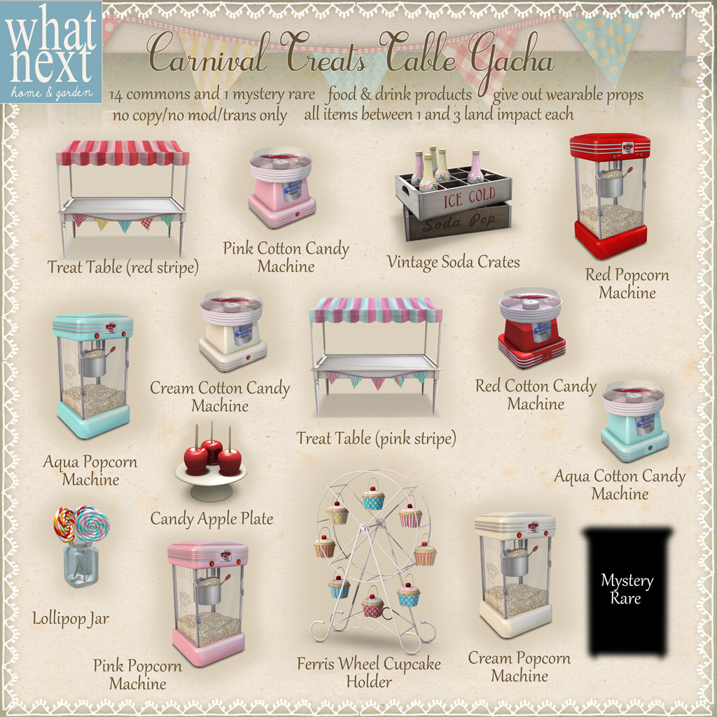 {what next} Carnival Treats Table Gacha- second life